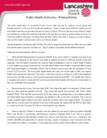 Public Health Privacy Notice